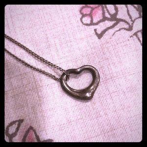 Authentic Tiffany & Co. open heart pendant